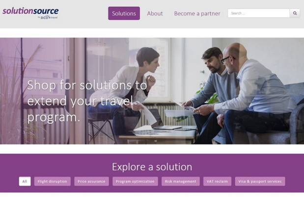 BCD Travel lance SolutionSource - Copie d'écran