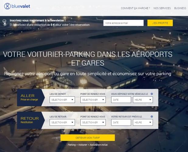 Le site de Blue Valet - DR