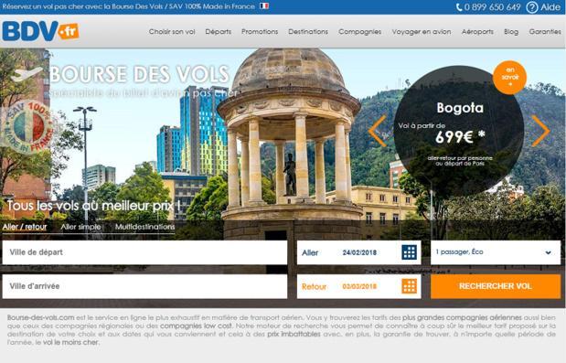 Le site de Bourse des vols - DR Capture écran