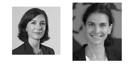 A gauche Anne-Sophie Le Lay et à droite Sonia Barrière - Crédit photo : Air France