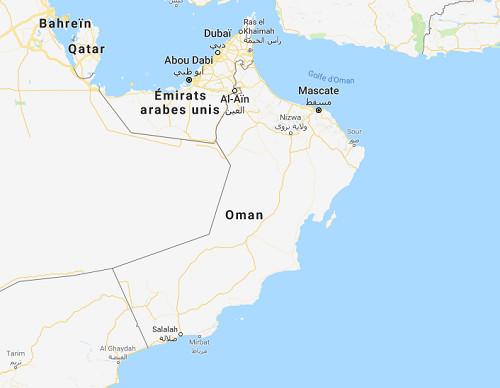 Google Map Oman