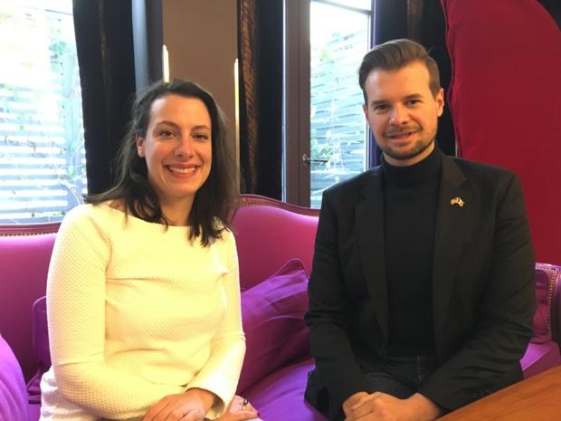 Nelly Venturini, en charge de la communication et Geoffrey Duval, président de l'OT des USA en France. - CL