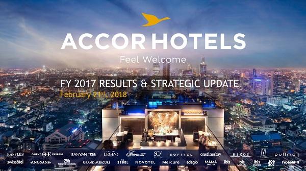 Le résultat annuel 2017 est plutôt bon pour le groupe Accor, avec une croissance du CA de 7,9% - Crédit photo : AccorHotels