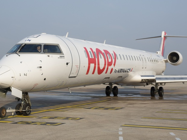 Près de 30% des vols de Hop! sont opérés depuis Nantes - DR Hop!