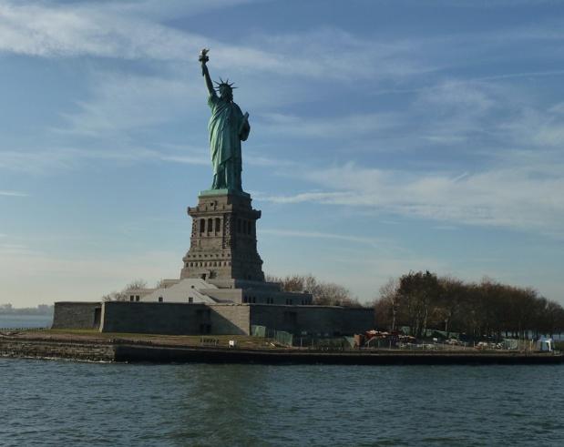 """Michel Salaün : """"Nous avons recruté un spécialiste des Etats-Unis, même si chez nous, nous avions déjà des spécialistes qui connaissaient parfaitement la destination. Mais ce spécialiste sera en charge de toute la production « à la carte » de la destination"""" - La Statut de la Liberté à New York photo MS"""