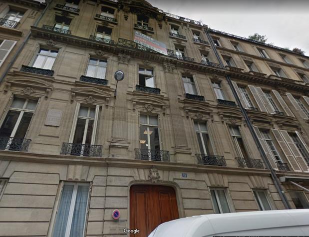 Un appel à la mobilisation a été lancé ce 28 février 2018 à 14h30 devant les locaux de Schneider Finance (15 rue de Marignan, 75008 Paris) - Photo Google Street View