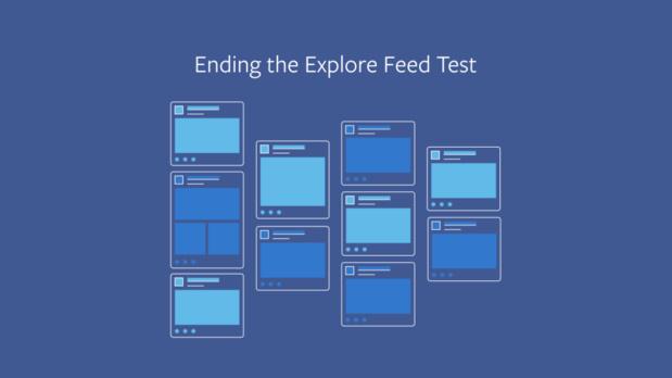 Facebook a publié un communiqué pour expliquer l'arrêt des tests sur les deux fils d'actu distincts - DR Facebook