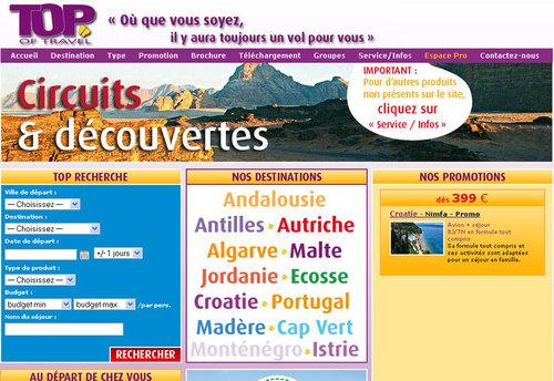 Top of Travel met en ligne son site B2B
