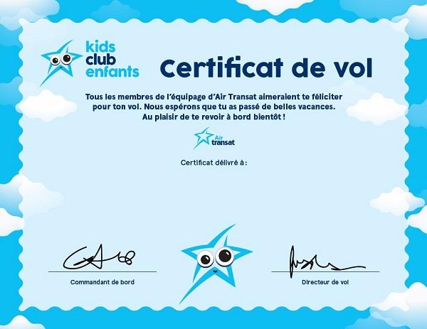 Un nouveau visuel pour le  club enfants d'Air Transat - Crédit photo : Air Transat