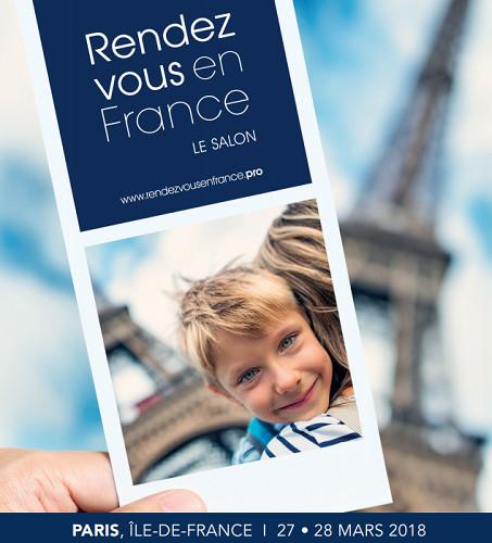 Le visuel des Rendez-vous en France. Deux jours durant, les rendez-vous d'affaires se succéderont toutes les 20 minutes - DR Atout France