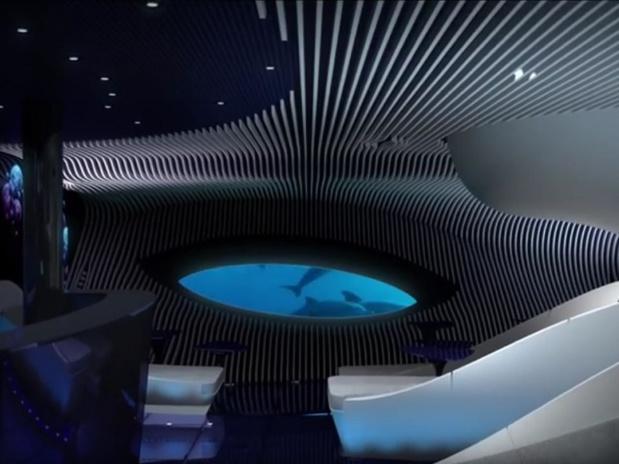 """Les nouveaux navires disposeront du salon """"blue eye"""" - DR Ponant"""