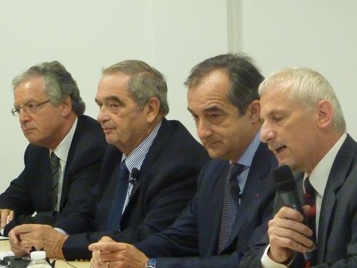 René-Marc Chikli (CETO), Gearges Colson (SNAV), Lionel Guérin (FNAM) et Alain Bazot (UFC Que Choisir)