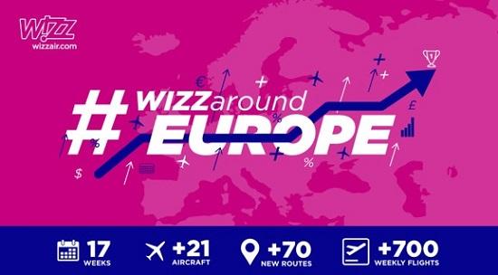 Wizz Air déploie 21 avions et 70 liaisons en 2018 - Crédit photo : Wizz Air