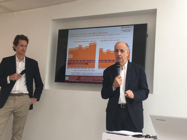 Quentin Bacholle, directeur général d'Opodo et Guy Raffour, directeur du Cabinet Raffour Interactif. - CL