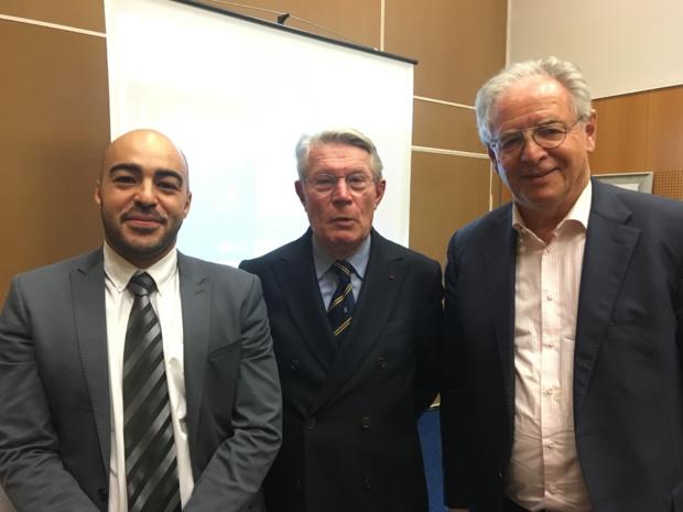 Khalid El Wardi,secrétaire général de la Médiation Tourisme et Voyage (MTV), Jean-Pierre Teyssier, médiateur et René-Marc Chikli., président du SETO. - CL