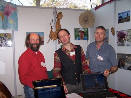 Trois guides de l'association Alpimondo : Marc Lubin, Eric Le Boulch et Jean-Louis Agogué