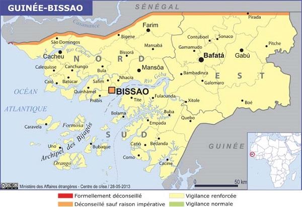 Guinée-Bissau, la zone frontalière avec la Casamance déconseillée - Crédit photo : France Diplomatie