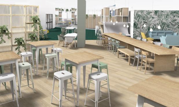 French Event Booster accueillera des espaces de travail pour les start-ups, des espaces de coworking et une école de l'événementiel. - DR