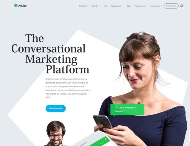 Avec iAdvize, les entreprises peuvent prédire et engager en temps réel des opportunités de contacts avec leurs clients et prospects - DR : Capture d'écran iAdvize