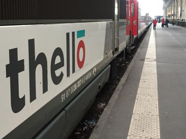 En Gare de Lyon, mercredi 21 mars, le Thello de 19h10 s'apprête à partir pour Venise © PG TM