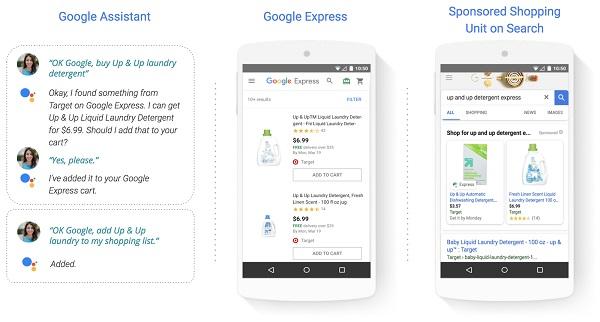 Le programme Actions Shopping de Google permet de réaliser des achats vocaux - Crédit photo : Google