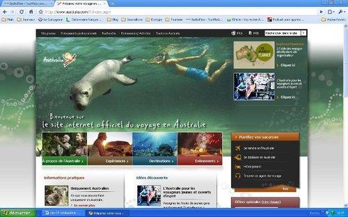 Le site de l'office de tourisme d'Australie : un modèle de site plébiscité par les internautes