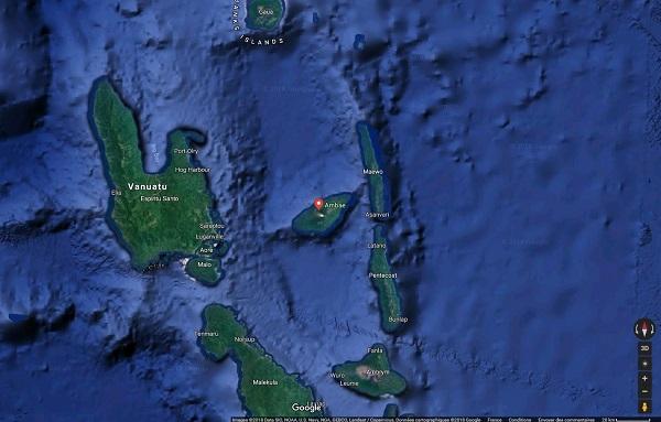 Vanuatu : une nouvelle éruption sur l'île d'Ambaé
