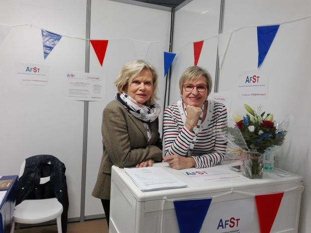 Karen Bossard, vice-présidente de l'AFST et sa nouvelle recrue Carole Pellicer - crédit photo TourMaG.com JP