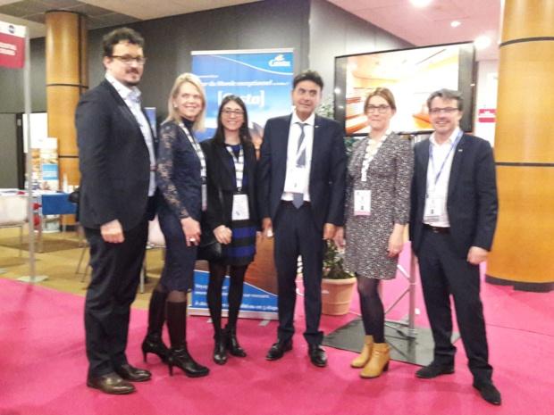 Georges Azouze, PDG de Costa Croisières et ses équipes sur le Ditex à Marseille - Photo MS