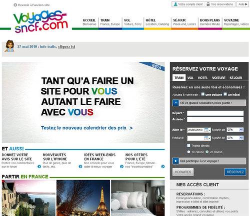 Le nouveau site Voyages-SNCF.com
