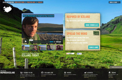 Campagne de communication internationale intitulée Inspied By Iceland