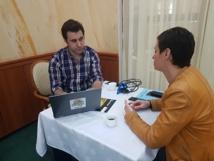 Kristofer Moisan-Sellez (Addock) et Carole Badorc Mon Plan Voyage lors du workshop - photo CE