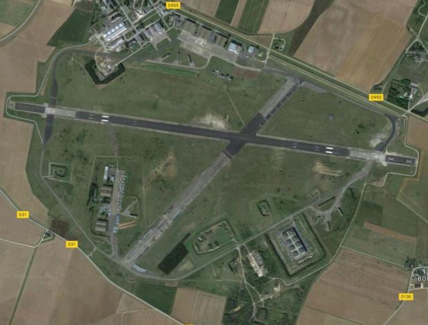 Vue aérienne de l'aéroport militaire de Châteaudun © Capture d'écran