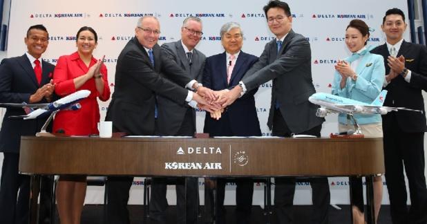 Les compagnies aériennes Delta Air Lines et Korean Air s'associent grâce à une nouvelle joint-venture - DR : Korean Air