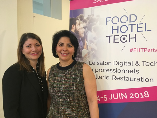 Shirli Salama, responsable marketing et Karen Serfaty, fondatrice du salon Food Hotel Tech. - CL