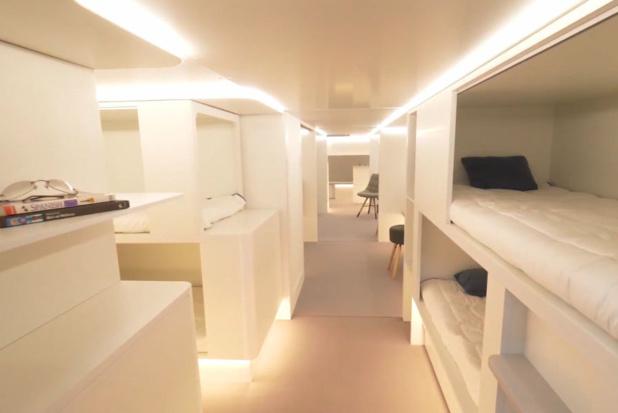 Ces espaces couchettes pourraient voir le jour à l'horizon 2020 à bord des avions © Zodiac Aerospace