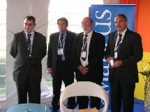 P. Grando entouré de J.-M. Mariani, C. Delom et G. Rudas