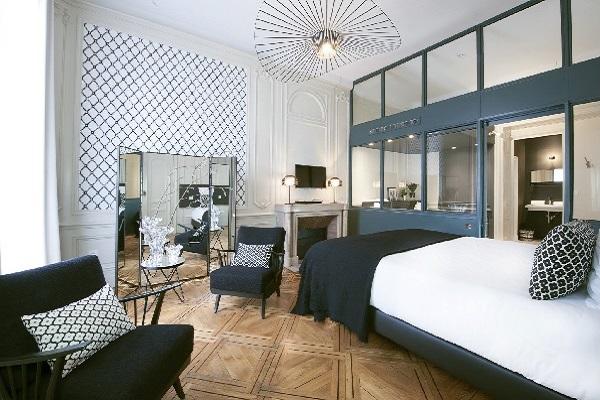 Une des suites de l'hôtel particulier Gailleton - Crédit photo : MiHotel