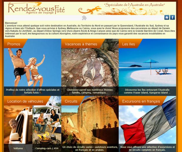 Le site Rendez-vous Futé est encore accessible à l'adresse australie-voyages.com - DR Capture écran