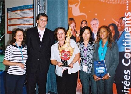 De gauche à droite: Laurence Ellena : Star Clippers, Gilles Ringwald: Thaï Airways, Béatrice Frantz Clavier: Star Clippers, Adee Guyard: Office de tourisme de Thaïlande, Ingrid Prendergast: Star Clippers