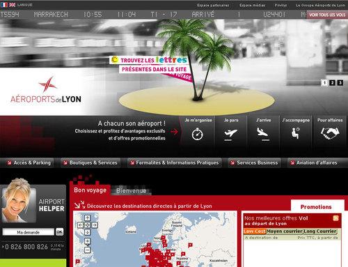 Le nouveau site Internet d'Aéroports de Lyon