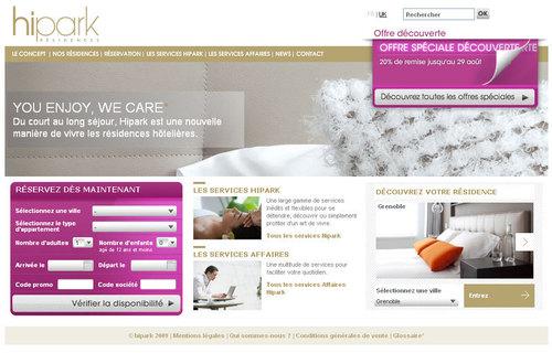 Le site Internet de Hipark