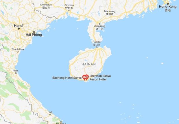 L'an dernier, le Hainan a accueilli près de 320 000 touristes exempts de visa, provenant de 26 pays, soit 3,5 fois plus qu'en 2016. - DR Google Map