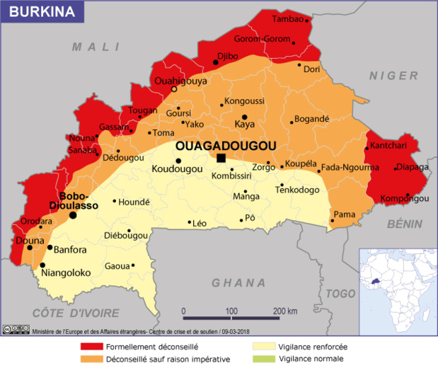 Burkina-Faso : les voyageurs doivent se signaler auprès du Consulat