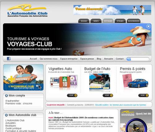 Voyages Loisirs en marque blanche sur le site de l'Automobile Club