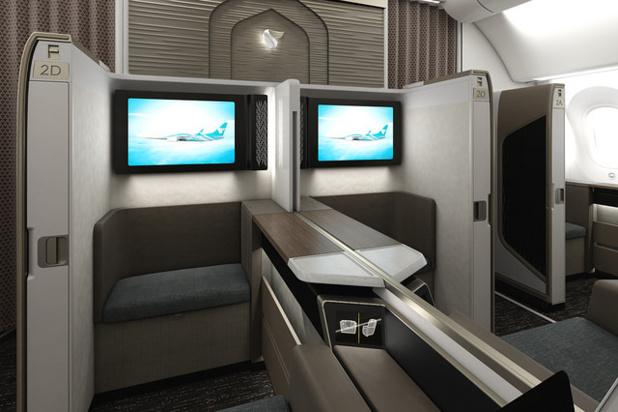 La nouvelle Mini Suite First Class d'Oman Air - DR