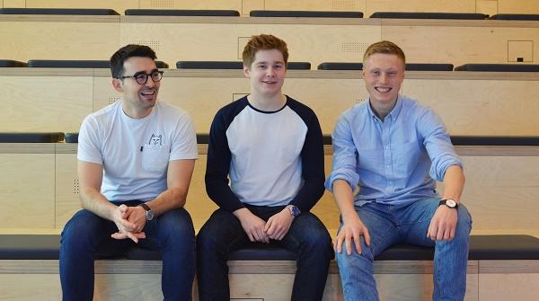 les trois étudiant ayant créé Stasher - Crédit photo : Stasher