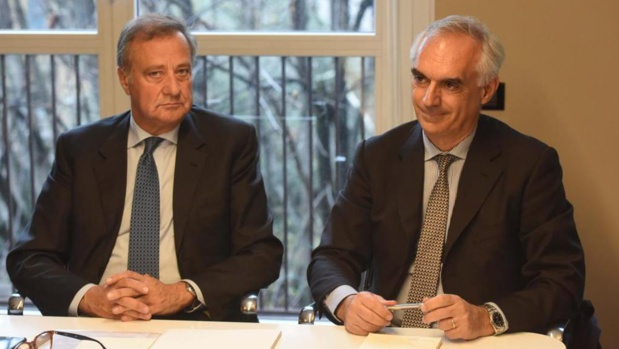 Giovanni Tamburi (gauche) et Gabriele Burgio (droite) - DR : la stampa