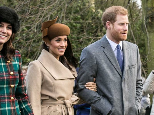 Prince Harry et Meghan Markle à l'église Sandringham à noël 2017 - DR Mark Jones / wikicommons