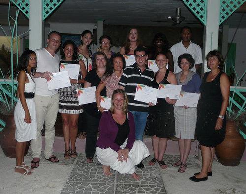 Le groupe d'agents de voyages en éductour en mai